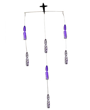 18in Squid Spreader Bar - Purple/Black