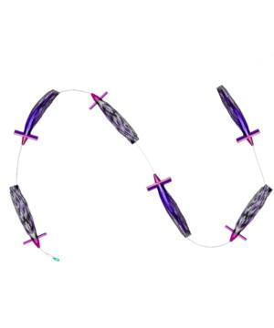 Large Purple and Black Ruckus Chain